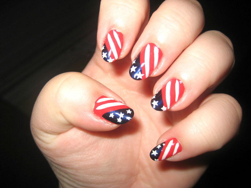 Nail Art World - gallery of nail design: 4th of July this year