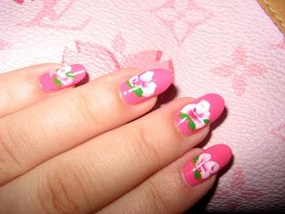 Beautiful Pink Tea Rose Nail Art-2
