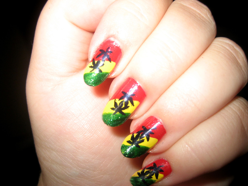 Nail art world gallery of nail design raggae manicure prinsesfo Choice Image