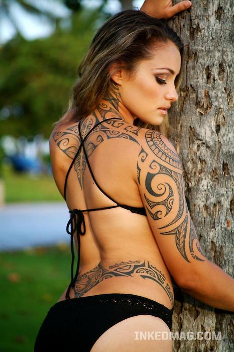 Sexy Girl Tribal Tattoo ( 1 )