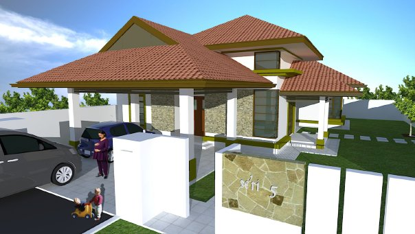 Single storey bungalow design images for Single storey bungalow design
