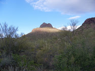 Sunrise illuminates Hat Mountain