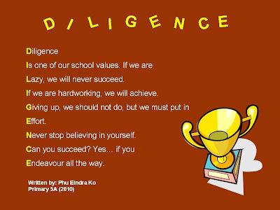 diligence and perseverance Diligence perseverance centered on these values they are invariably successful almost always, these core values.