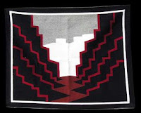 Navajo Zig Zag Twin Rocks Modern Rug by Eleanor Yazzie