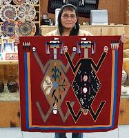 NavajoWeaverLuanaTsowithherMotherEarthFAtherSkyRug