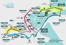 Trazado del circuito urbano de Formula 1, en el Puerto de Valencia