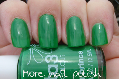 prince frog green nail polish