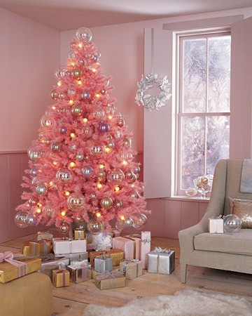 Whispered whimsy vintage there will be a pink christmas tree for Pink christmas decorations