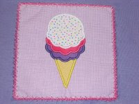 EB ice cream cone (in a patch)