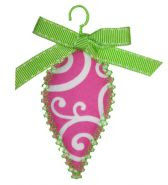 EB vintage oblong ornament
