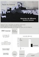 """Exposição """"Recortes do Efêmero"""""""