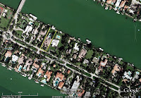 Al Capone home in Miami Beach - arial view