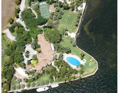 Coral Gables home - 11 Casuarina Concourse, Coral Gables Florida, home of Alan Potamkin, in Gables Estates just south of Miami