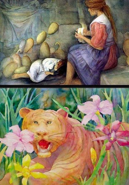 لوحات فنية عبقرية لرسام أعمى-ابداعات البشر-فنون-منتهى