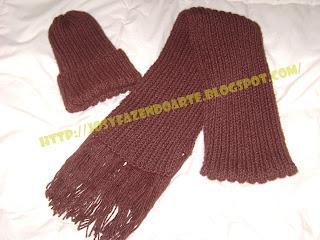 como fazer gorro de trico facil