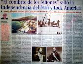 El combate de los cañones selló la independencia del Perú y toda América
