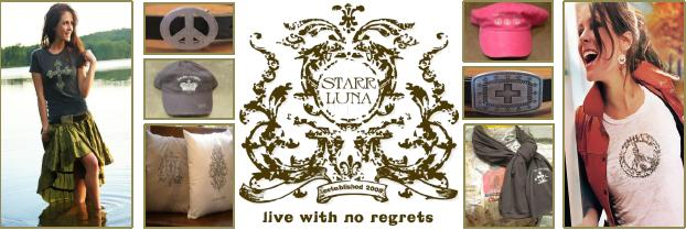 Live with no Regrets, Wear Starr Luna.