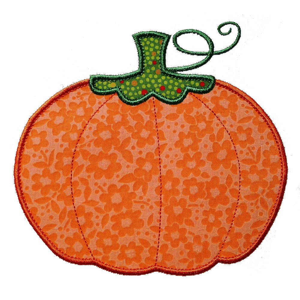 Big dreams embroidery pumpkin machine applique
