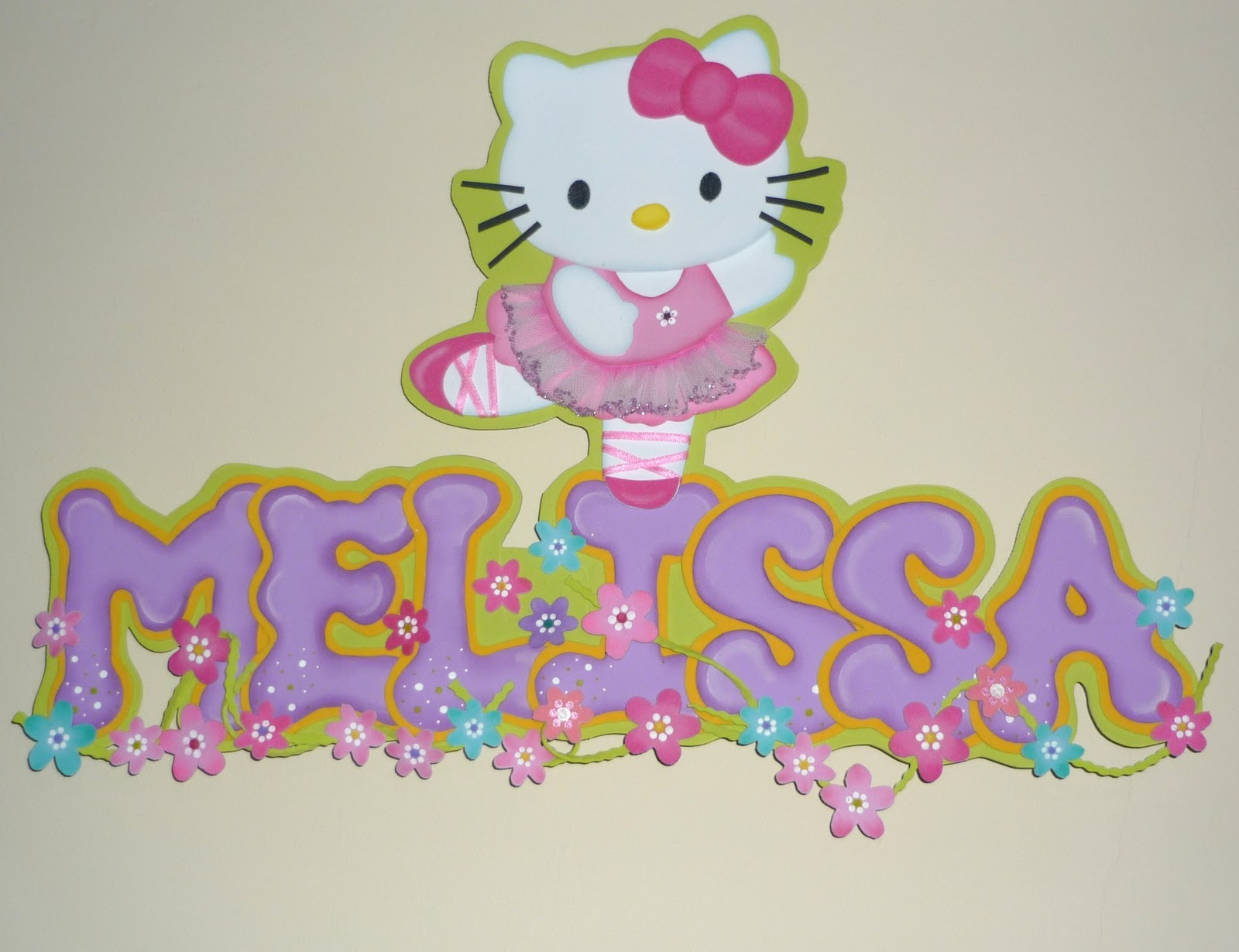 Moldes de Hello Kitty en foami - Imagui