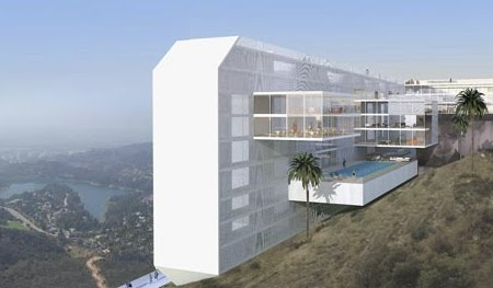 Danish Architecture Firm Bay Arch Wants To Transform The Famous Hollywood Sign Into A Modern Hotel Proposed 10 Floor Would Feature 308 Rooms