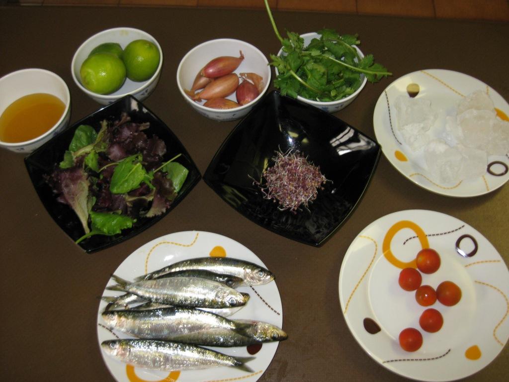 Cocinar es un placer mi ceviche de sardinas for Ingredientes para cocinar