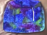Prato com cores vitrais