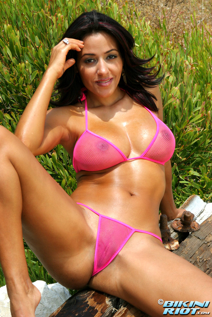Rita G Pink Fishnet from Bikini Riot ...