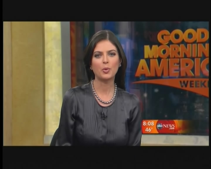 Good Morning America Sunday Edition : Ladies in satin blouses bianna golodryga dark gray