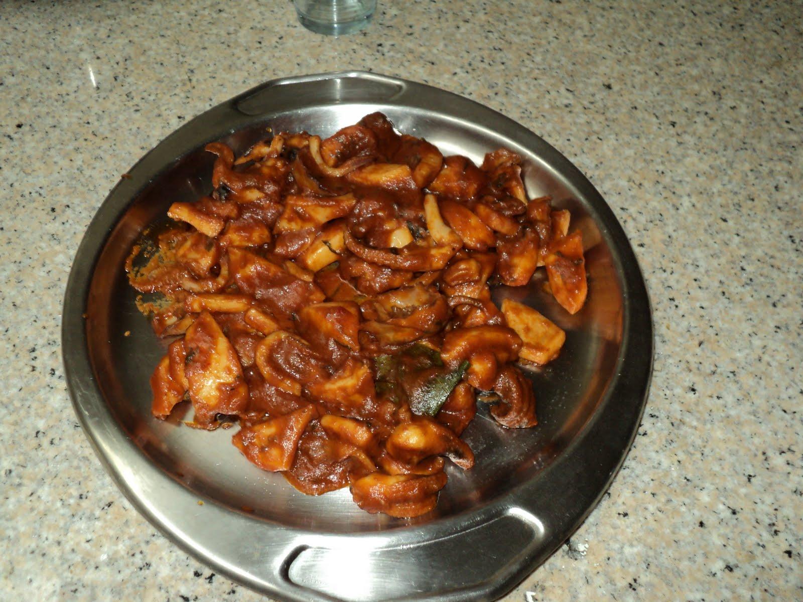 cocinar para los mios jibia en salsa thermomix On cocinar 2 platos en thermomix