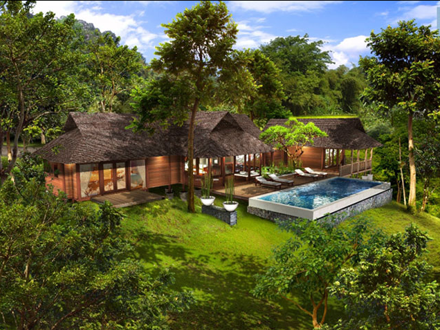 From bali with love tropical house plans from bali with for Hawaiian house design