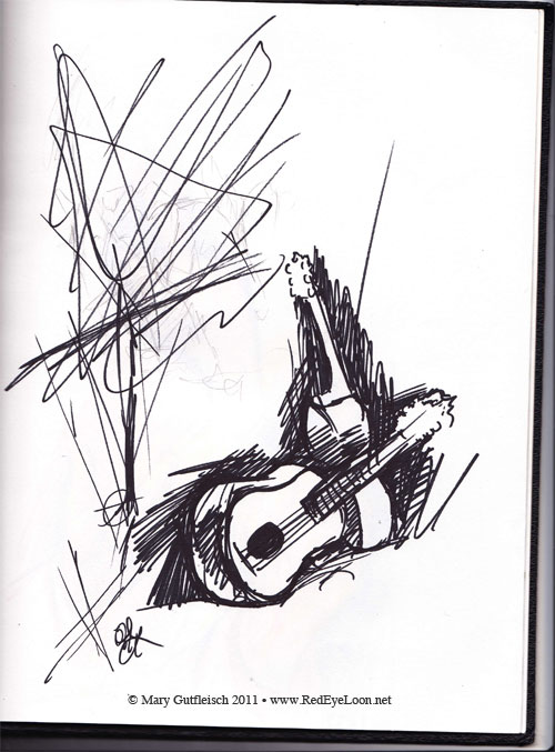 sketches of guitars
