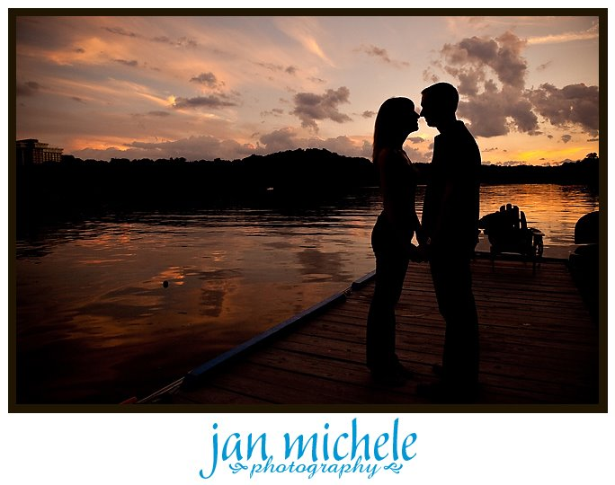 sunset engagement shoot in Georgetown