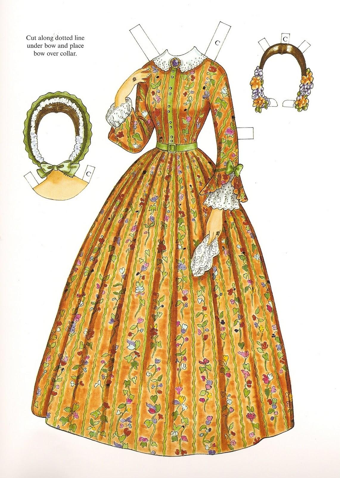 Victorian fashion paper dolls 62