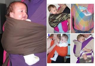 Μωράκια σε μάρσιπους αγκαλιάς, slings, στη σωστή θέση 'βατράχου' με τα πόδια ανοιχτά και τα γόνατα ψηλά