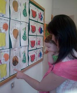 Με το μωρό μου στο sling, βλέπουμε μαζί τα έργα ζωγραφικής του αδερφού της!