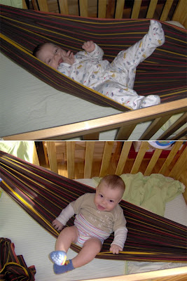 Μάρσιπος wrap από υφαντό ύφασμα που δέθηκε σαν αιώρα στην κούνια του μωρού!