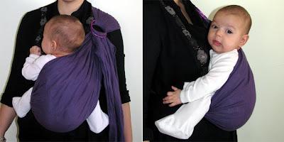 Τέλεια θέση για ανήσυχα μωρά που δεν κάθονται ήσυχα στο μάρσιπο sling!
