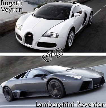 bugatti veyron vs lamborghini reventon ferrari prestige cars. Black Bedroom Furniture Sets. Home Design Ideas