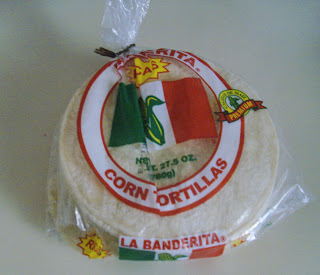 package of soft corn tortillas