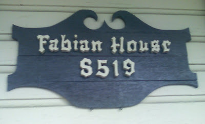 Fabian House sign