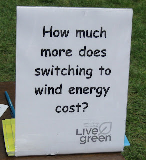 sign on LiveGreen table
