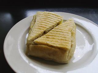 Eggcentricity breakfast sandwich at Java Green