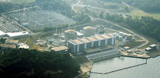 Calvert Cliffs nuclear power plant in Lusby Maryland