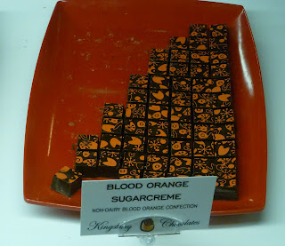nondairy blood orange sugarcreme chocolates