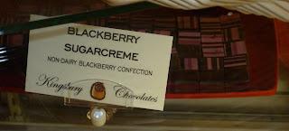 nondairy blackberry sugarcreme chocolates