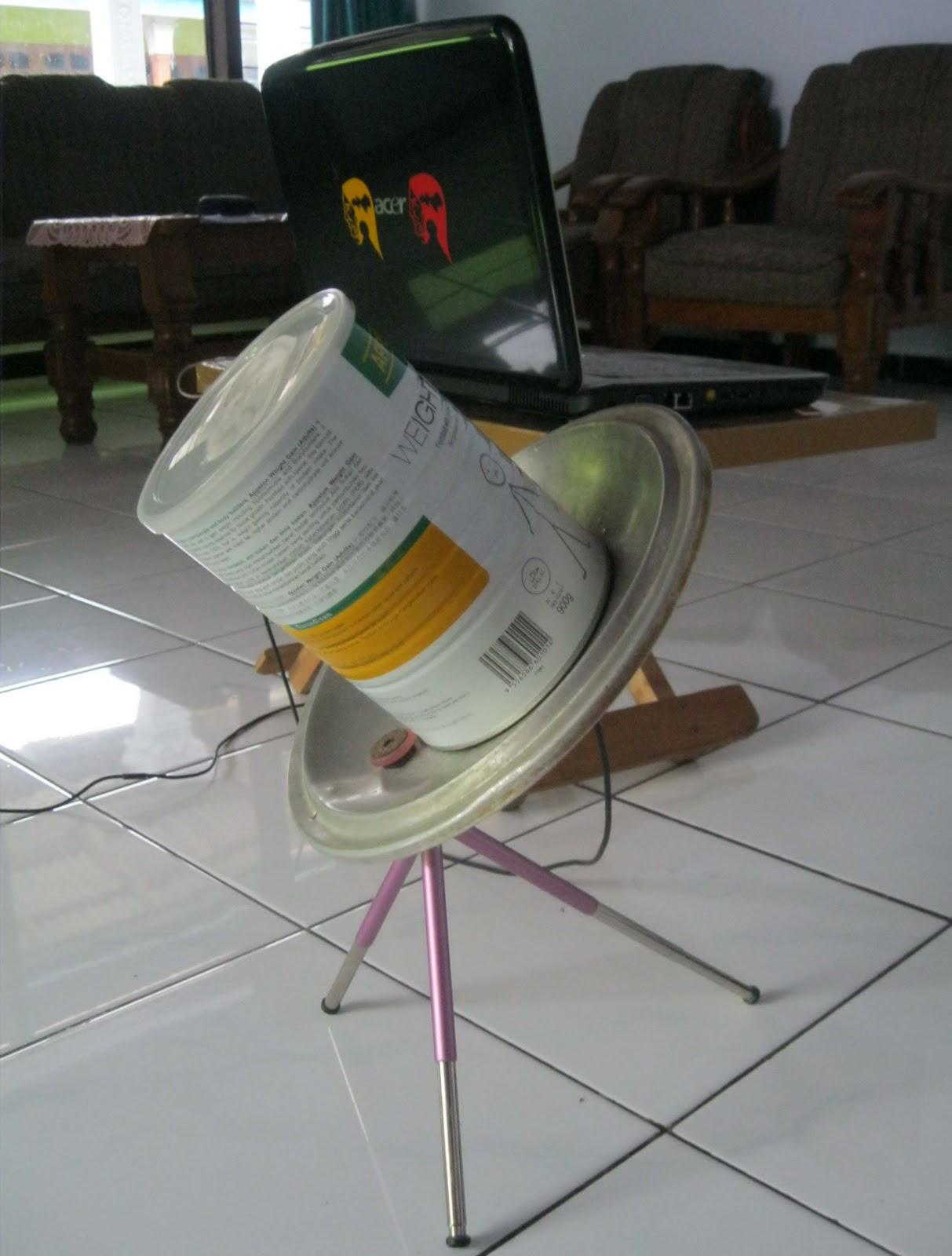 Antena Kaleng Susu Appeton Weight Gain Budi Utomo Peternak Anten Tampak Samping