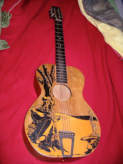 vintage cowboy guitar dog - photo #11