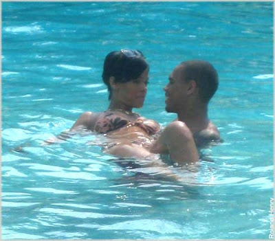 rihanna+and+chris Rihanna & Chris Brown Spotted In Jamaica