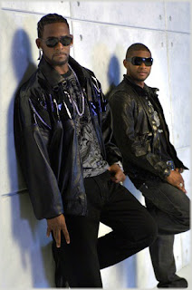 rkelsusher R. Kelly & Usher On Set of Same Girl Video