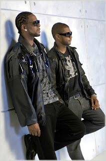AAA0376 R. Kelly & Usher On Set of Same Girl Video